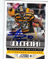 JONATHAN DWYER PITTSBURGH STEELERS AUTOGRAPHED FOOTBALL CARD #72214C