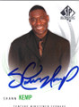 SHAWN KEMP CONCORD MINUTEMEN AUTOGRAPHED BASKETBALL CARD #72214i