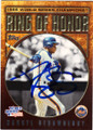 DARRYL STRAWBERRY NEW YORK METS AUTOGRAPHED BASEBALL CARD #72314D