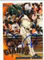 EUGENIO VELEZ SAN FRANCISCO GIANTS AUTOGRAPHED BASEBALL CARD #72914A