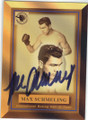 MAX SCHMELING AUTOGRAPHED BOXING CARD #72914E