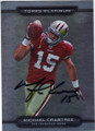 MICHAEL CRABTREE SAN FRANCISCO 49ers AUTOGRAPHED ROOKIE FOOTBALL CARD #72914G