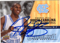 JERRY STACKHOUSE UNIVERSITY OF NORTH CAROLINA TAR HEELS AUTOGRAPHED BASKETBALL CARD #73014E