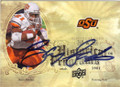 BARRY SANDERS OKLAHOMA STATE COWBOYS AUTOGRAPHED FOOTBALL CARD #73014i