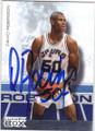 DAVID ROBINSON SAN ANTONIO SPURS AUTOGRAPHED BASKETBALL CARD #80514G