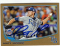 MATT MOORE TAMPA BAY RAYS AUTOGRAPHED & NUMBERED BASEBALL CARD #80514H