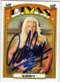 ASHLEY AUTOGRAPHED WRESTLING CARD #80614A