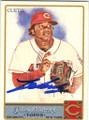 JOHNNY CUETO CINCINNATI REDS AUTOGRAPHED BASEBALL CARD #80614H