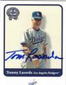 TOM LASORDA LOS ANGELES DODGERS AUTOGRAPHED BASEBALL CARD #80614L
