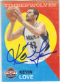 KEVIN LOVE MINNESOTA TIMBERWOLVES AUTOGRAPHED BASKETBALL CARD #80814A