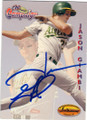 JASON GIAMBI OAKLAND ATHLETICS AUTOGRAPHED BASEBALL CARD #81414N
