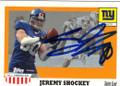 JEREMY SHOCKEY NEW YORK GIANTS AUTOGRAPHED FOOTBALL CARD #81914C