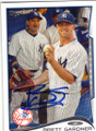 BRETT GARDNER NEW YORK YANKEES AUTOGRAPHED BASEBALL CARD #82814C
