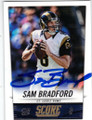 SAM BRADFORD ST LOUIS RAMS AUTOGRAPHED FOOTBALL CARD #83014F