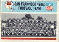SAN FRANCISCO 49ers VINTAGE TEAM CARD #90614C