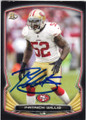PATRICK WILLIS SAN FRANCISCO 49ers AUTOGRAPHED FOOTBALL CARD #90614F