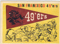 SAN FRANCISCO 49ers UNSIGNED VINTAGE TEAM CARD #90614H