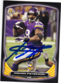 ADRIAN PETERSON MINNESOTA VIKINGS AUTOGRAPHED FOOTBALL CARD #90814G