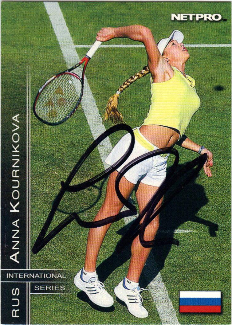 2003 NetPro International Series #10 Anna Kournikova Tennis Card