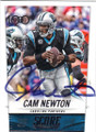 CAM NEWTON CAROLINA PANTHERS AUTOGRAPHED FOOTBALL CARD #90914M