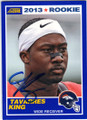 TAVARES KING DENVER BRONCOS AUTOGRAPHED ROOKIE FOOTBALL CARD #90914N