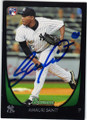 AMAURI SANIT NEW YORK YANKEES AUTOGRAPHED ROOKIE BASEBALL CARD #91214A