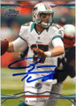 RYAN TANNEHILL MIAMI DOLPHINS AUTOGRAPHED FOOTBALL CARD #91214E
