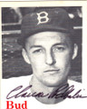 "CLARENCE ""BUD"" PODBIELAN BROOKLYN DODGERS AUTOGRAPHED VINTAGE BASEBALL CARD #91714A"