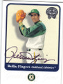 ROLLIE FINGERS OAKLAND ATHLETICS AUTOGRAPHED BASEBALL CARD #91714D