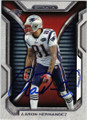 AARON HERNANDEZ NEW ENGLAND PATRIOTS AUTOGRAPHED FOOTBALL CARD #91714F