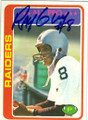 RAY GUY OAKLAND RAIDERS AUTOGRAPHED VINTAGE FOOTBALL CARD #91714J
