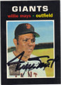 WILLIE MAYS SAN FRANCISCO GIANTS AUTOGRAPHED BASEBALL CARD #101214G