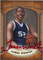 JAMES WORTHY NORTH CAROLINA TAR HEELS AUTOGRAPHED BASKETBALL CARD #101314F