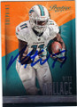 MIKE WALLACE MIAMI DOLPHINS AUTOGRAPHED FOOTBALL CARD #101314G