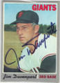 JIM DAVENPORT SAN FRANCISCO GIANTS AUTOGRAPHED VINTAGE BASEBALL CARD #101314K