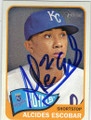 ALCIDES ESCOBAR KANSAS CITY ROYALS AUTOGRAPHED BASEBALL CARD #101514D