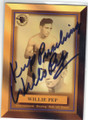 WILLIE PEP AUTOGRAPHED BOXING CARD #101614A