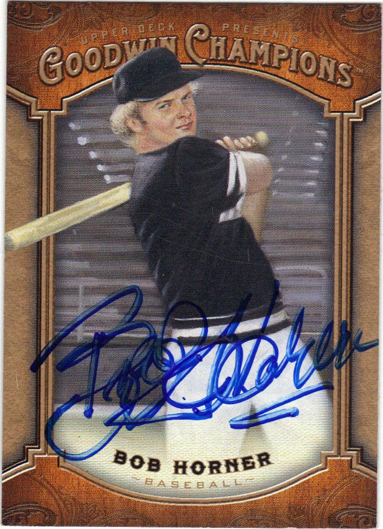 Bob Horner Arizona State University Autographed Baseball Card 101714c