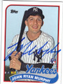 JOHN RYAN MURPHY NEW YORK YANKEES AUTOGRAPHED ROOKIE BASEBALL CARD #101914D