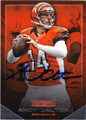 ANDY DALTON CINCINNATI BENGALS AUTOGRAPHED FOOTBALL CARD #102114A