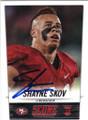 SHAYNE SKOV SAN FRANCISCO 49ers AUTOGRAPHED ROOKIE FOOTBALL CARD #102114G
