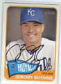 JEREMY GUTHRIE KANSAS CITY ROYALS AUTOGRAPHED BASEBALL CARD #102214H