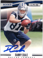 DANNY COALE DALLAS COWBOYS AUTOGRAPHED ROOKIE FOOTBALL CARD #102214N