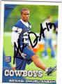 AKWASI OWUSU-ANSAH DALLAS COWBOYS AUTOGRAPHED ROOKIE FOOTBALL CARD #102314H