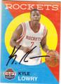 KYLE LOWRY HOUSTON ROCKETS AUTOGRAPHED BASKETBALL CARD #102314O