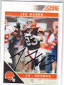 JOE HADEN CLEVELAND BROWNS AUTOGRAPHED FOOTBALL CARD #102414D