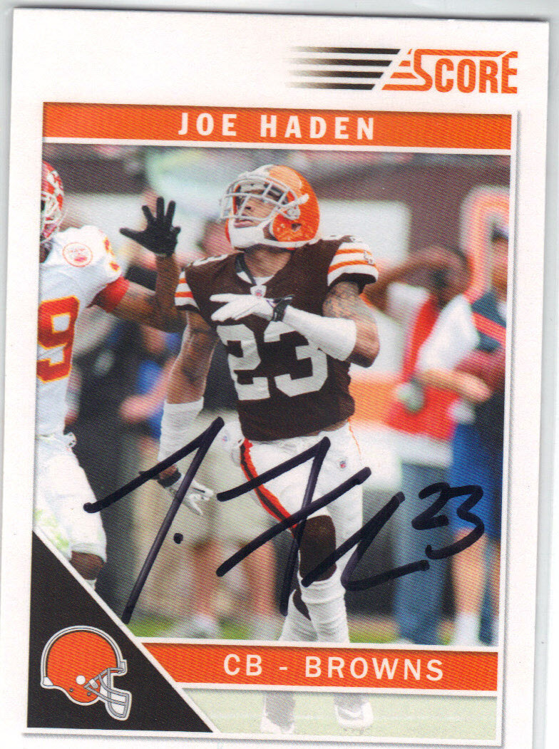414aef97a JOE HADEN CLEVELAND BROWNS AUTOGRAPHED FOOTBALL CARD  102414D. Price    10.00. Image 1
