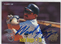 WADE BOGGS KANSAS CITY ROYALS AUTOGRAPHED BASEBALL CARD #102514B