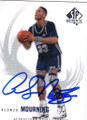 ALONZO MOURNING GEORGETOWN HOYAS AUTOGRAPHED BASKETBALL CARD #102514H