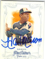 HANK AARON ATLANTA BRAVES AUTOGRAPHED BASEBALL CARD #102714C